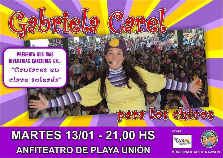 Gabriela Carel para los peques en el Anfiteatro
